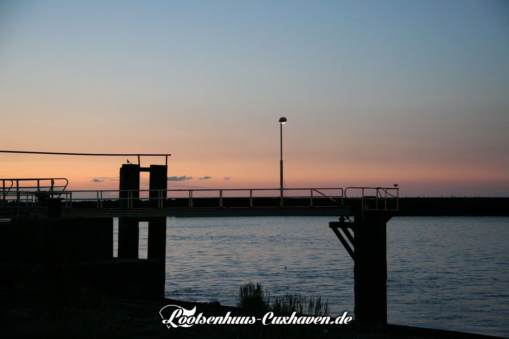 Wetterfoto Fährhafen Cuxhaven
