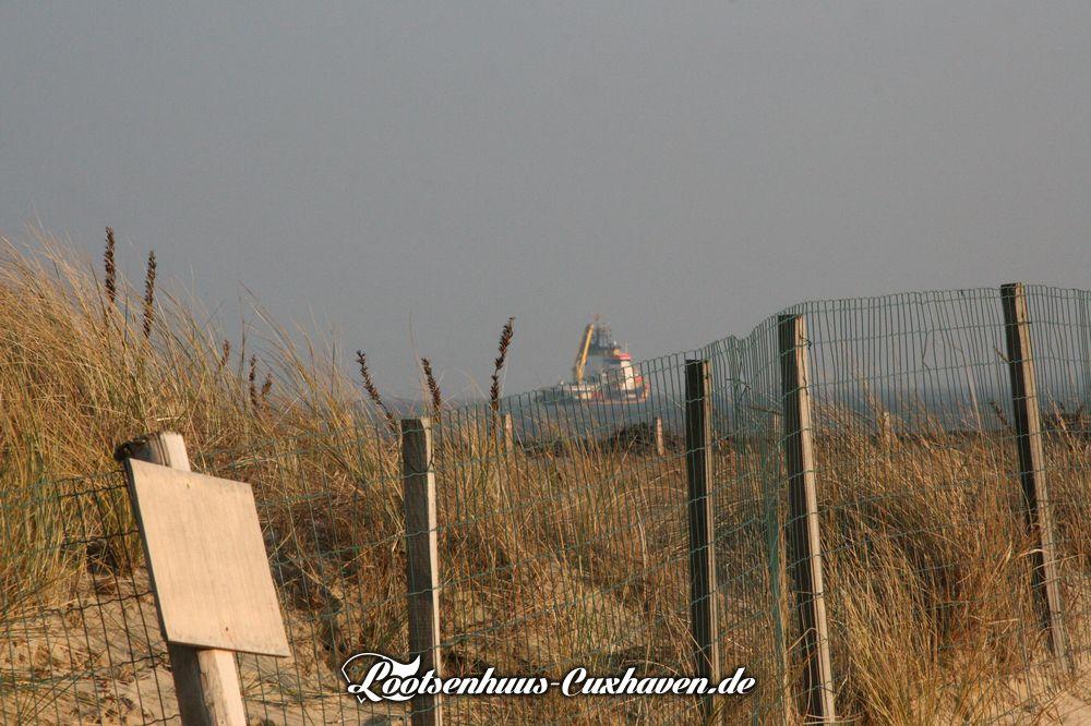 Cuxhaven Dünen Schiff Grimmershörn