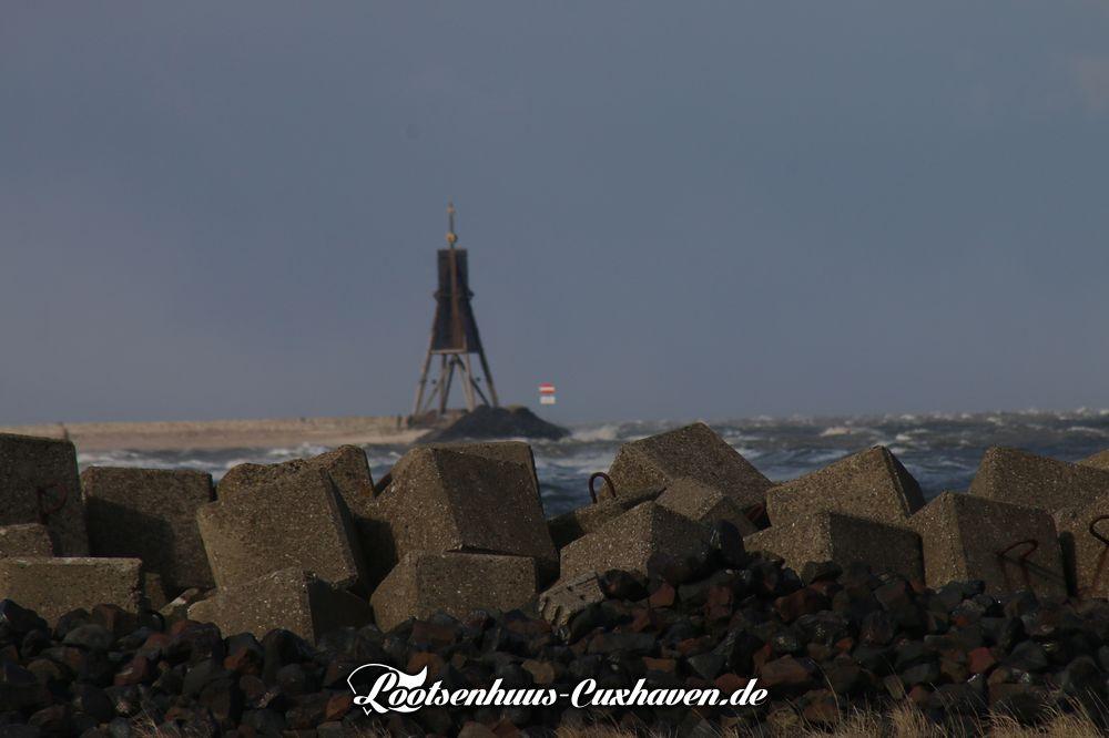 Cuxhaven Kugelbae Grimmershörn Sturm März 2018