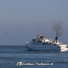 """Bilder aus Cuxhaven - die """"Funny Girl"""" auf dem Weg nach Helgoland"""