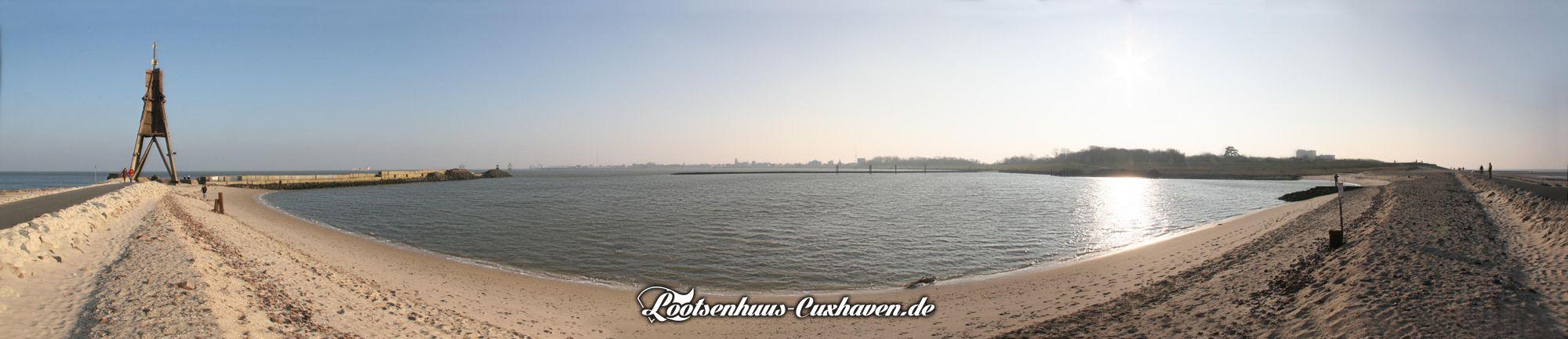 Cuxhaven Kugelbake Panorama