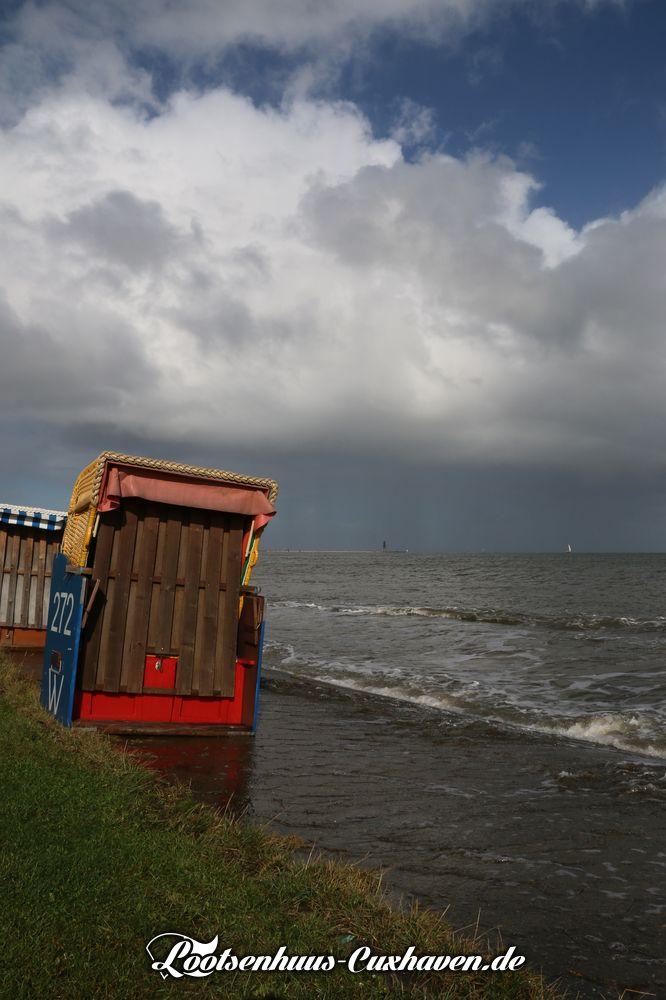 Grimmershoern Oktober Hochwasser Cuxhaven