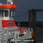 Cuxhaven Seenotkreuzer Anneliese Kramer im Fährhafen